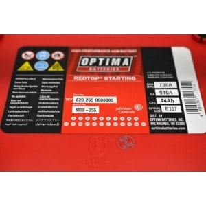 OPTIMA RED TOP RTS 3.7 12V 44Ah 910A AGM 5